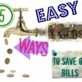 Looking to save a little extra green each month? Check out these 5 easy ways to save money on household bills.