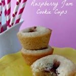 Raspberry Jam Filled Cookie Cups