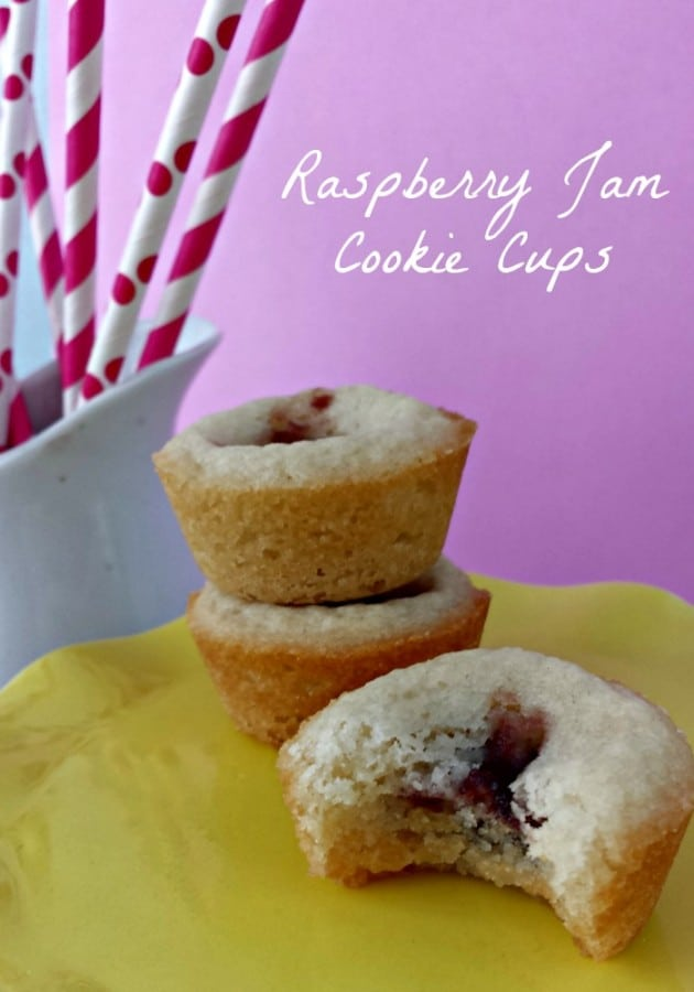Raspberry Jam Cookie Cups