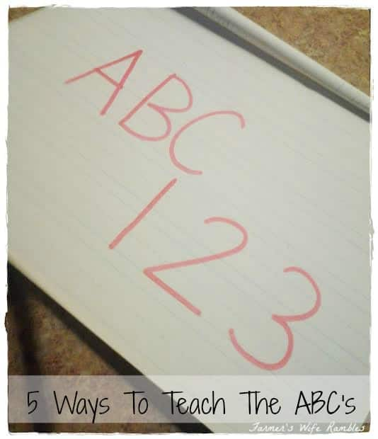 5 Ways To Teach The ABC's