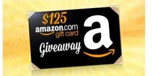 $125 Amazon Gift Card Giveaway