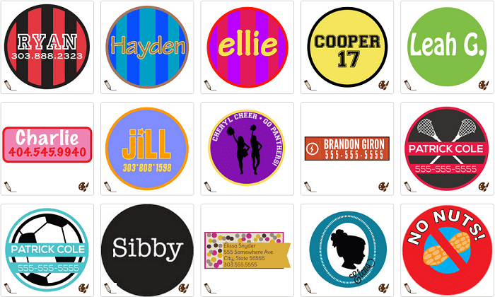 Kidecals Personalized Labels
