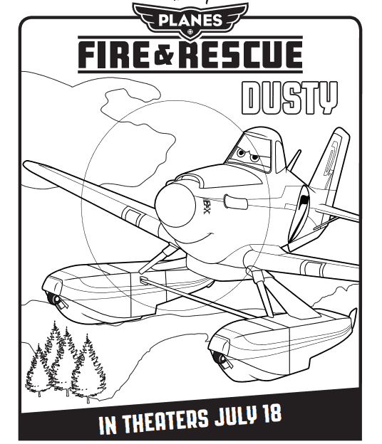 Planes Fire & Rescue Coloring Pages Top Page
