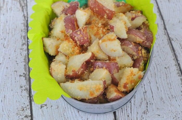 Roasted Red Panko Covered Crumb Potatoes