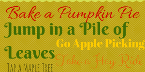 Fall Bucket List Printable