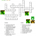 Minecraft Crossword Printable