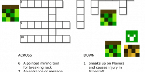 Free Minecraft Crossword Printable