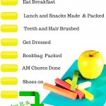 School Morning Routine Checklist Free Printable