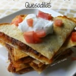 10 Minute BBQ Pulled Beef Brisket Quesadillas