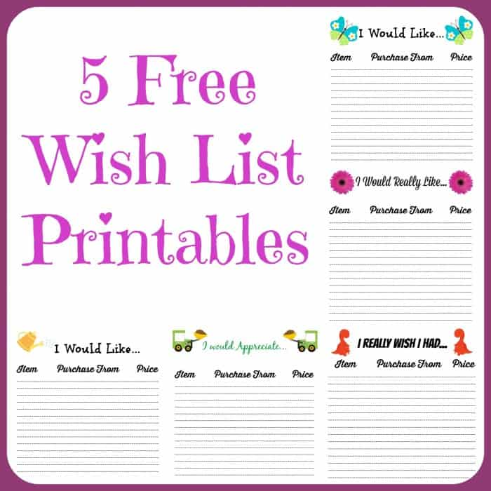 free wish list printables 5 designs to pick from farmer 39 s wife