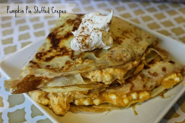 Pumpkin Pie Stuffed Crepes