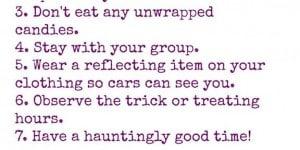 Free Halloween Safety Tips Printable