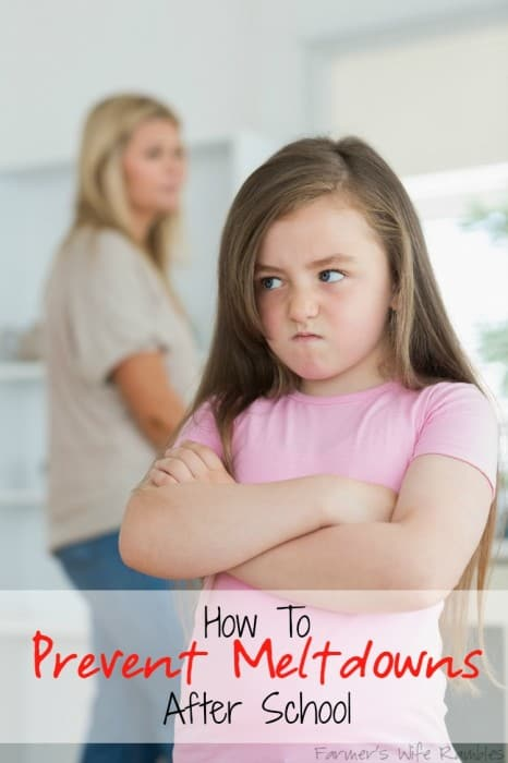 How To Prevent Meltdowns After School