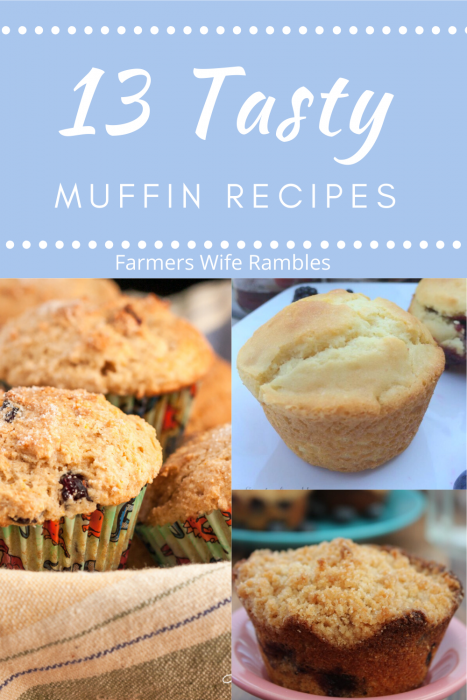 Pictures of various muffins