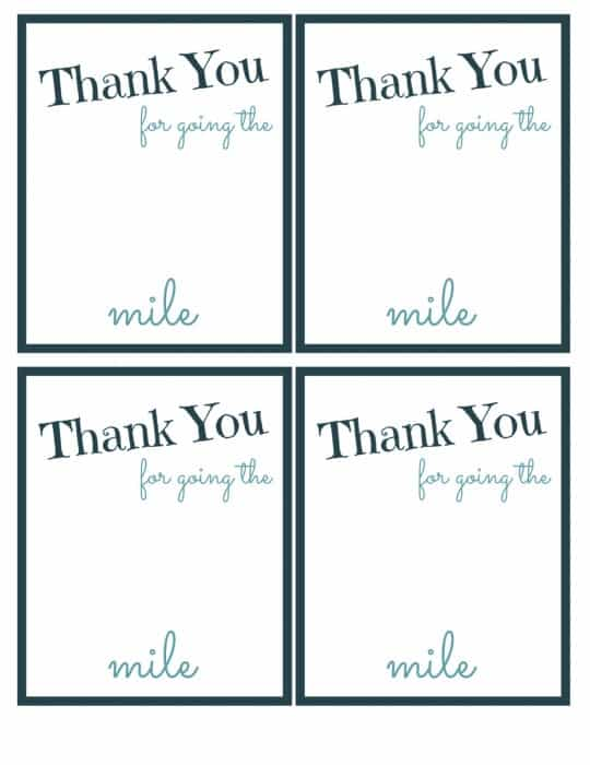 photo about Thanks for Going the Extra Mile Printable known as Present Excess Buy Far more Printable With #ExtraGumMoments