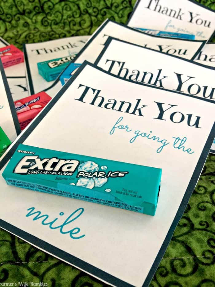 photograph about Thanks for Going the Extra Mile Printable named Supply Far more Order Further Printable With #ExtraGumMoments
