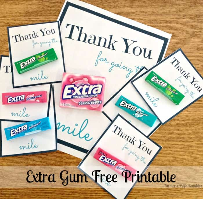 Give Extra Get Extra Printable With #ExtraGumMoments ...