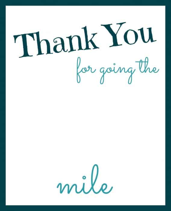 graphic regarding Thanks for Going the Extra Mile Printable identified as Deliver Added Just take Further Printable With #ExtraGumMoments