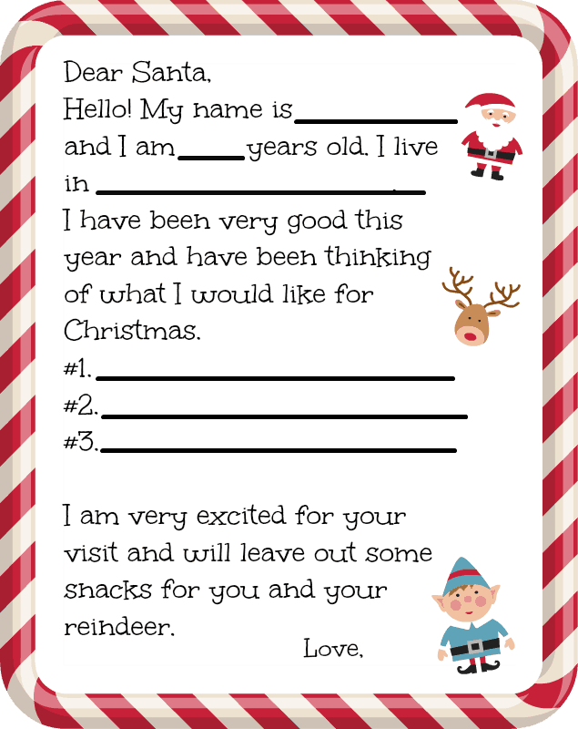 Free dear santa letter printable farmer 39 s wife rambles for Dear santa template kindergarten letter