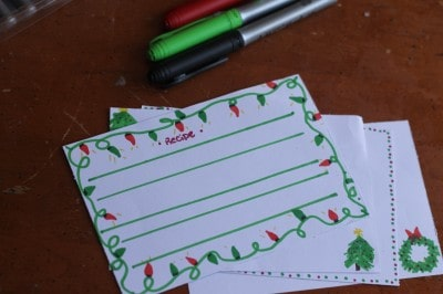 Handmade Tangled Lights Recipe Card