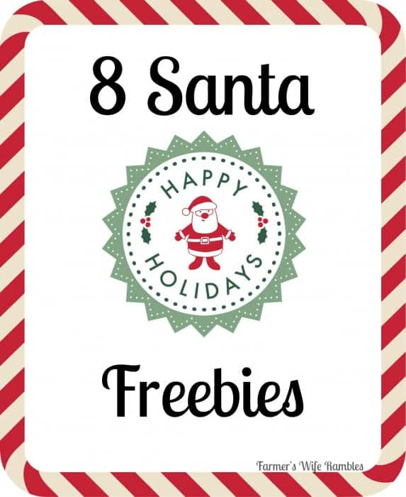 Write A Letter To Santa +7 Santa Freebies
