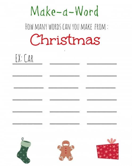 Christmas Word Maker