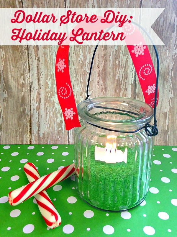 Dollar Store Crafts Holiday Lantern