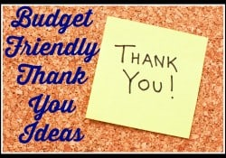 Inexpensive Thank You Ideas