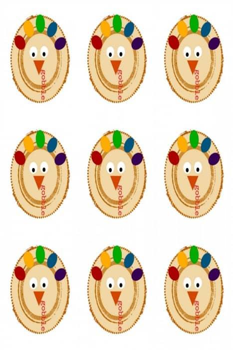 Free Printable Turkey Thanksgiving Hanging Tags