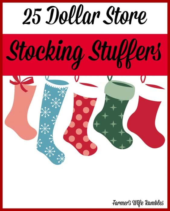Stocking stuffers don't have to be expensive/  Check out this list of 25 Dollar Store Stocking Stuffers and enjoy watching your kids' faces light up! - Farmer's Wife Rambles