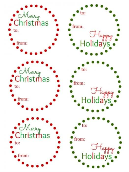 If you're looking for a fun way to decorate those gifts this year, check out my Christmas Gift Tags. They're super easy to print out and use on your gifts.