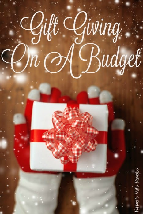 If you're on a budget, there are things you can do to make gift giving a little easier. Here is how to plan Christmas gift giving while on a budget. - Farmer's Wife Rambles