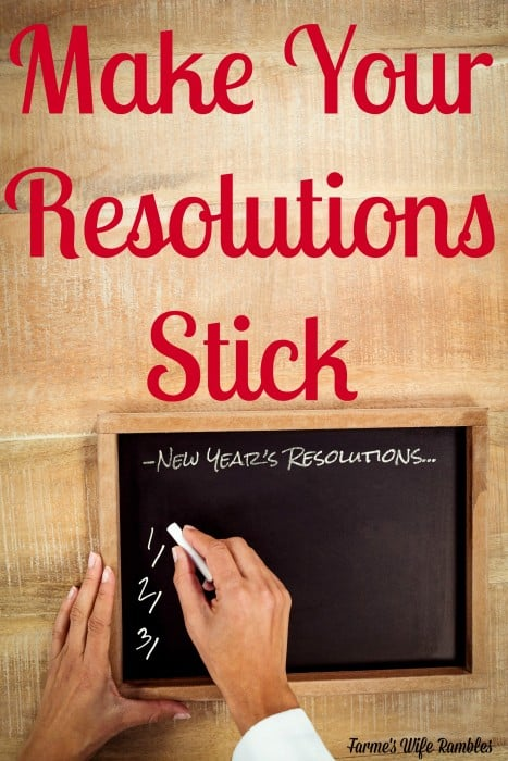 There are some ways you can make a goal for the New Year stick and here are some of my best tips on how to make New Year's Resolutions stick.
