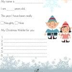 Dear Santa Letter for Preschoolers
