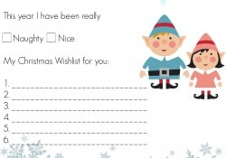Writing a letter to Santa can be tough for little ones. Snag ths Dear Santa Letter for Preschoolers that uses mostly fill in the blank answers. - Farmer's Wife Rambles