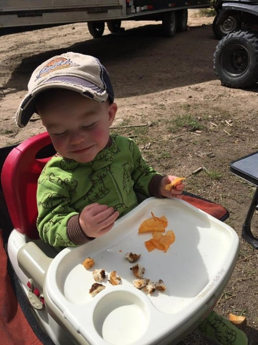 Here are 7 tips for camping with babies that will help ease the stress and help things go more smoothly. - Farmer's Wife Rambles