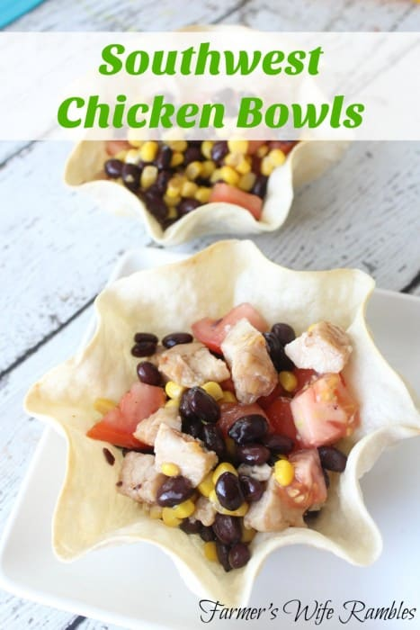 southwest chicken bowls main