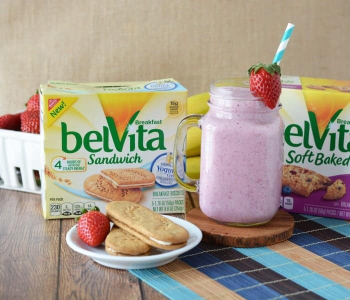 Breakfast is the most important part of the morning routine.  This Banana Berry Smoothie is a great idea to add to my routine on busy mornings. - Farmer's Wife Rambles