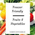 Various fruits and Vegetables that are freezer friendly