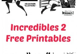 incredibles 2 free printables