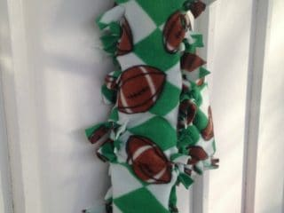 No Sew Football Fleece Scarf