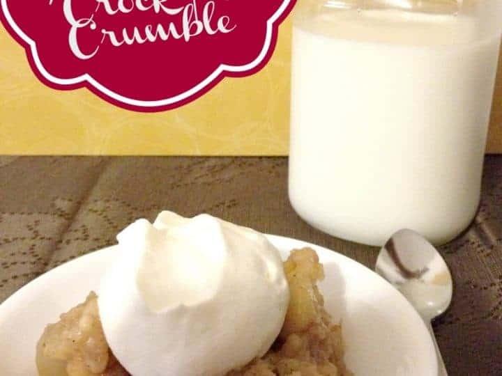 Easy Spiced Apple Crock Pot Crumble