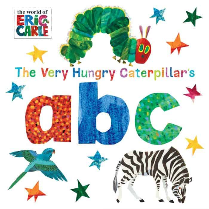 The cover of The Very Hungry Catepillar ABC board book.