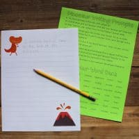 Printable Dinosaur Writing Prompts & Journaling Pages