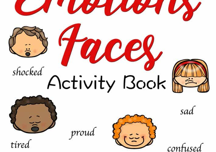 The cover of an Emotions Activity Book.