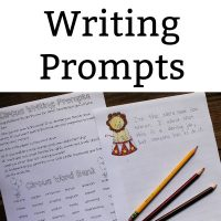 Circus themed writing prompts for homeschool