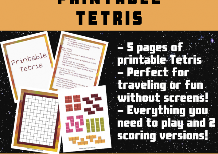 A collage for a free printable tetris game.