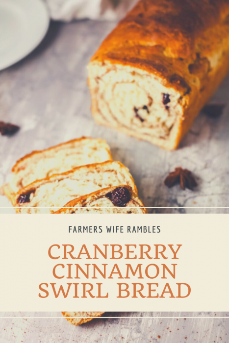 Picture of Cranberry Cinnamon Swirl Bread