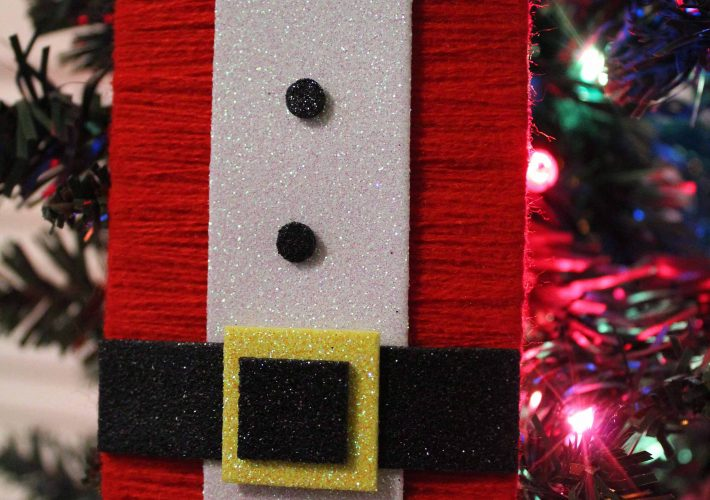 Dollar store DIY Christmas ornament made with items available at a dollar store.
