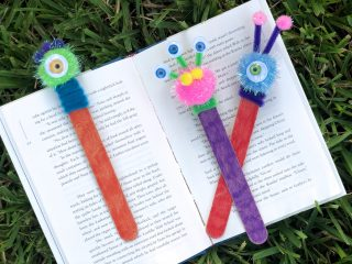 Dollar Store Monster Bookmark Craft